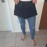 High waisted Jean shorty shorts is being swapped online for free