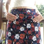 Flowered semi-mini skirt  is being swapped online for free
