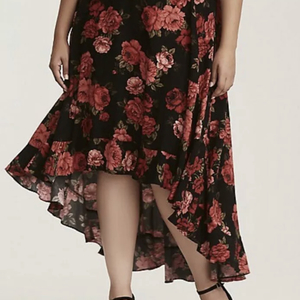 Torrid hi low skirt  is being swapped online for free