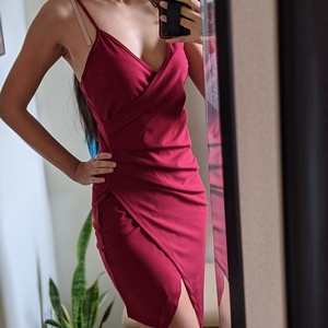 Red Wrap Dress Size XS is being swapped online for free
