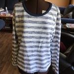 Shimmery Blue and White Striped Sweater is being swapped online for free