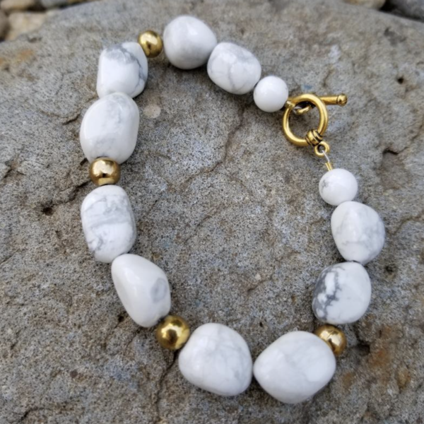 Natural Howlite Bracelet  is being swapped online for free
