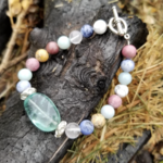 Fluorite crystal and stone bracelet is being swapped online for free