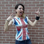 UK Punk Rock British Flag Shirt Size XS is being swapped online for free