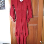 Red Pirate Bohemian Dress Fits XS - Medium is being swapped online for free