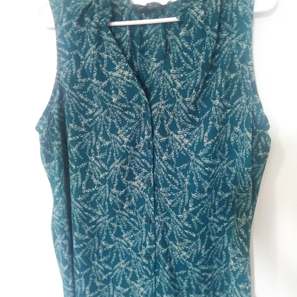 bANANA REPUBLIC TEAL BLOUSE is being swapped online for free