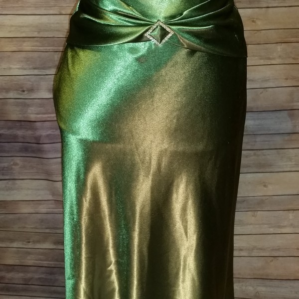 Green Jessica McClintock Dress Size 1/2 is being swapped online for free
