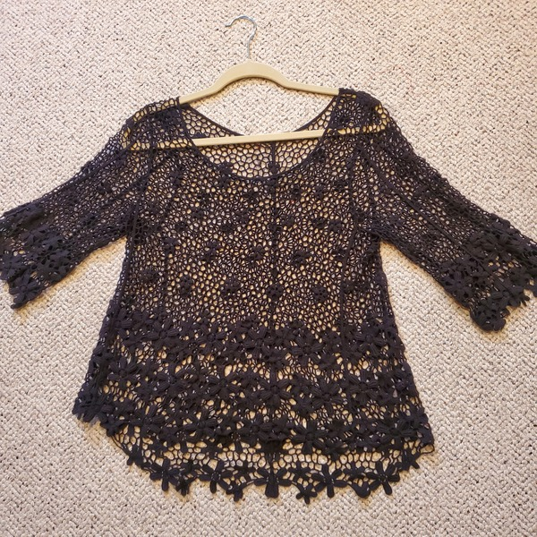 Crochet Lace Top Size S/M is being swapped online for free