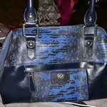 Authentic Sharif Couture Lizard Embossed Satchel is being swapped online for free