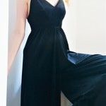 Black Velvet Urban Outfitters Jumpsuit that gives the impression of being a dress is being swapped online for free