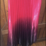 Betsy and Adams Black, Red, and Pink Ombré Prom Dress with Mesh Middle is being swapped online for free