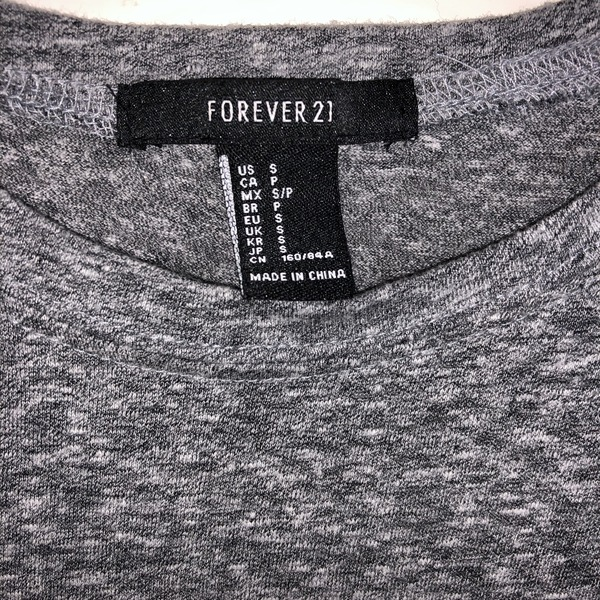 Forever 21 Gray Crop Top is being swapped online for free