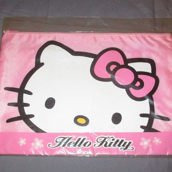 Super Cute Hello Kitty large storage or cosmetics bag (Brand New) is being swapped online for free