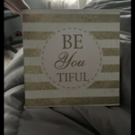 Girls room decoration sparkly beyoutiful sign is being swapped online for free