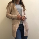 Mossimo Warm Cream Cardigan Sz M is being swapped online for free