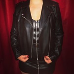 Leather jacket  is being swapped online for free