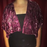 Velvet floral  shawl  is being swapped online for free