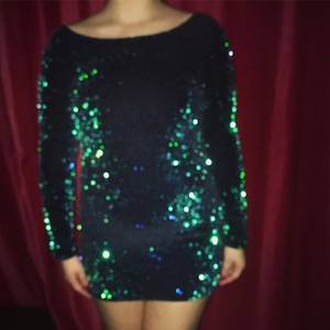 Green sequin dress is being swapped online for free