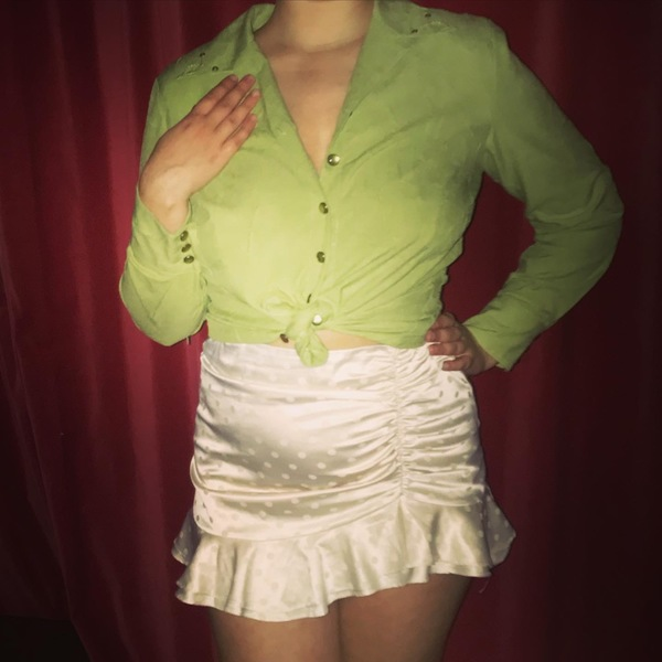 Pistachio blouse  is being swapped online for free