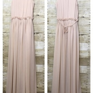 H&M blush pink maxi dress sleeveless  is being swapped online for free
