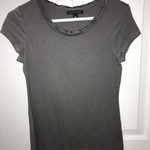 Nice Gray Banana Republic T-Shirt Frill Neckline is being swapped online for free