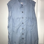 Light Blue Sleeveless Button-Up - Sonoma is being swapped online for free