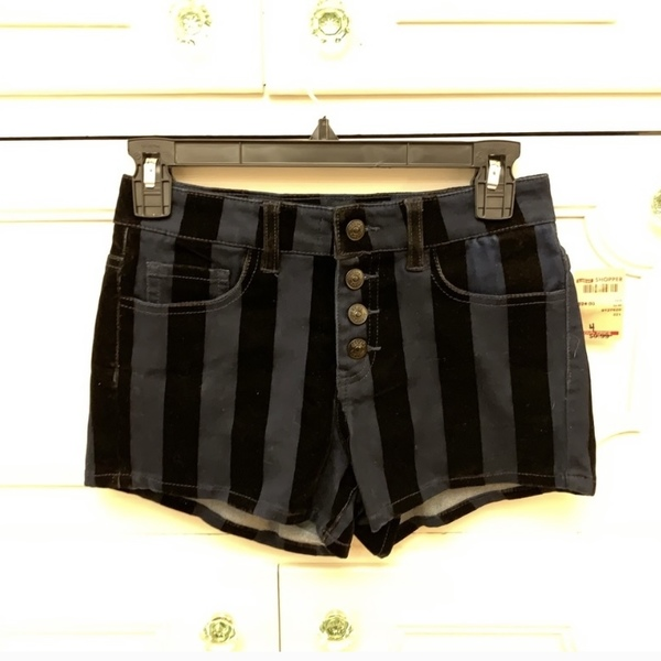 Size 3 NWT Delia's Striped Velvet Shorts is being swapped online for free