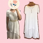White dress elegant and layered  is being swapped online for free
