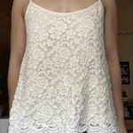 S Cream Lace Tank is being swapped online for free