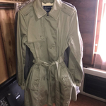 Army/Olive Green American Eagle Trench Coat is being swapped online for free