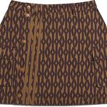 IVY PARK-Monogram Skirt-Brown/Red is being swapped online for free