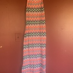 Chevron/Aztec print maxi summer dress size medium is being swapped online for free