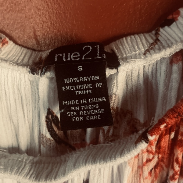 Cute rue 21 blouse / cover up  is being swapped online for free