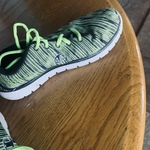 Champion vibrant green athletic shoes  is being swapped online for free