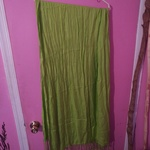 Large Lime Scarf, Handmade is being swapped online for free